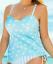 Cacique Aqua Seashell High Low Tankini Top With Bandeau Bra Size 40DD