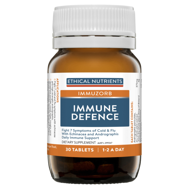 Ethical Nutrients Immune Defence 30 Tablets IMMUZORB Andrographis Echinacea