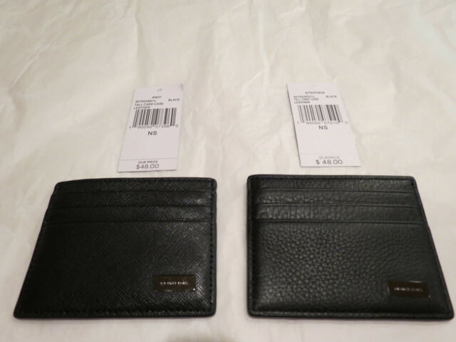 f003a6832c0f Michael Kors Andy or Stephen Tall Card Case Black Leather $48 Authentic NWT  New