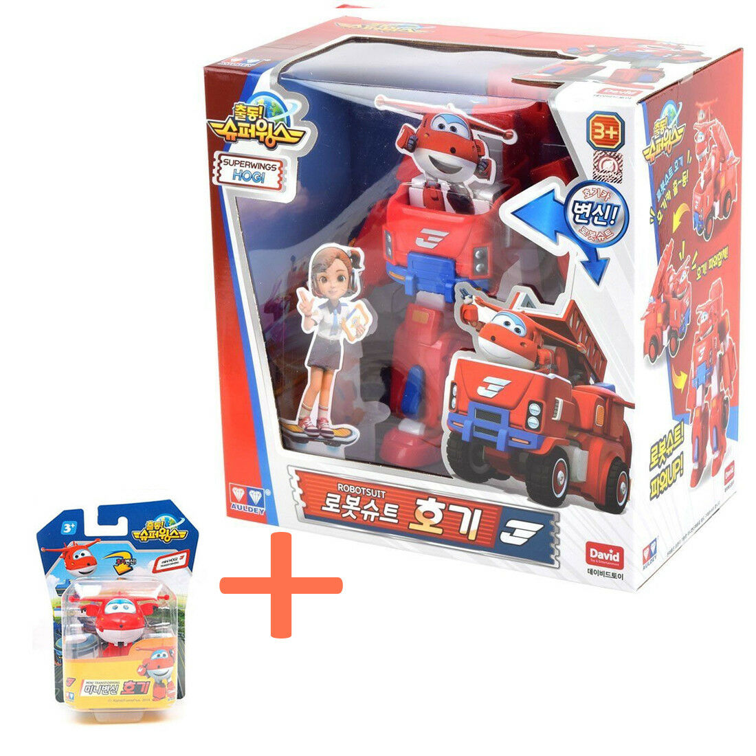 Super Wings Hogi (Jett) Private Car Transforming Robotsuit 7.5