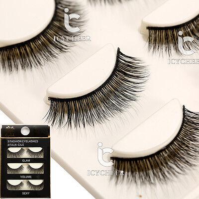 Makeup 3D False Eyelashes Handmade Soft Eye Lashes Extension Natural Long Thick