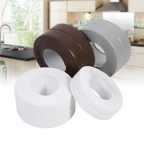 22MM//38MM Bath Wall Sealing Strip Self-Adhesive Kitchen Caulk Tape Bathroom 3.2m