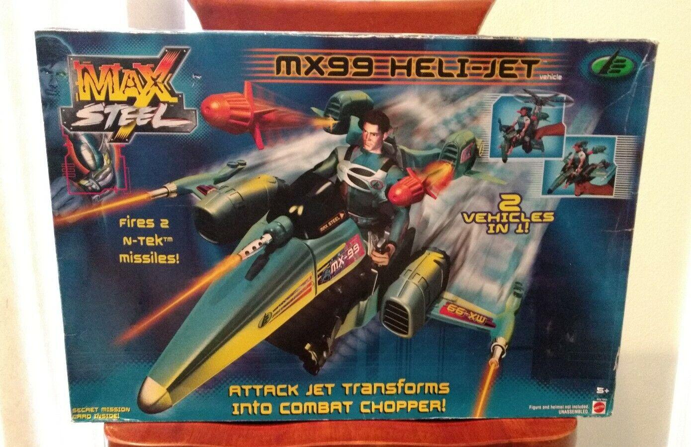 2001 MATTEL MAX STEEL MX99 HELI-JET