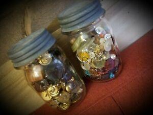 2-Vintage-Jars-Full-Of-Old-Buttons