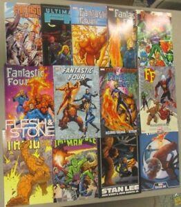 Fantastic-Four-HC-TPB-Lot-of-13-Books-Marvel-Comics-Human-Torch-Reed-Richards