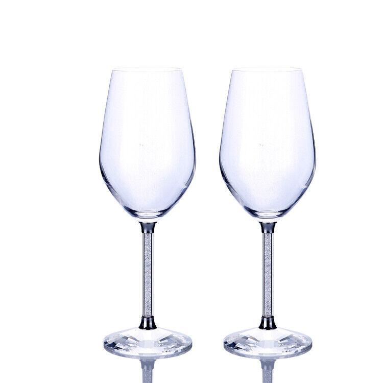E02 rouge Wine Crystal Wine Glass Wth Diamond Filling Stem Home Decoratio Wine Set