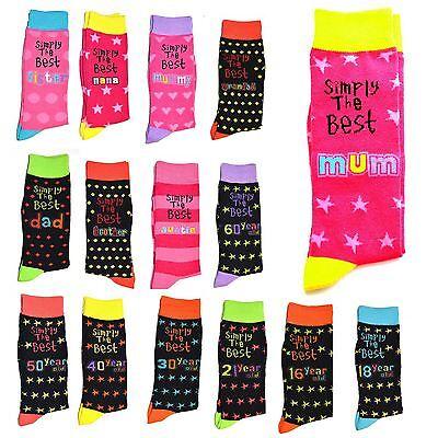 Simply The Best Socks Età Compleanno Natale Madri Padri Giorno Regalo Unisex-mostra Il Titolo Originale