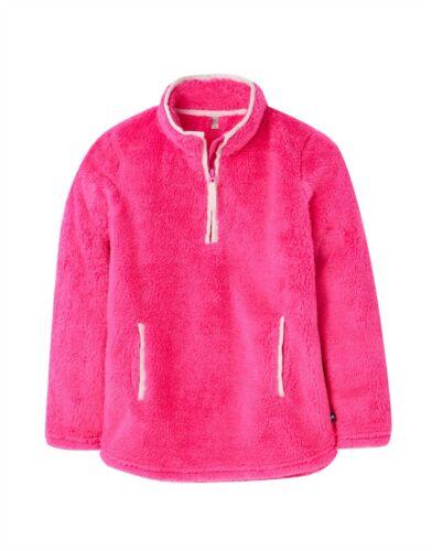 Pink *NEW WINTER 2019* Joules Girls Ellie 1//2 Zip Fleece