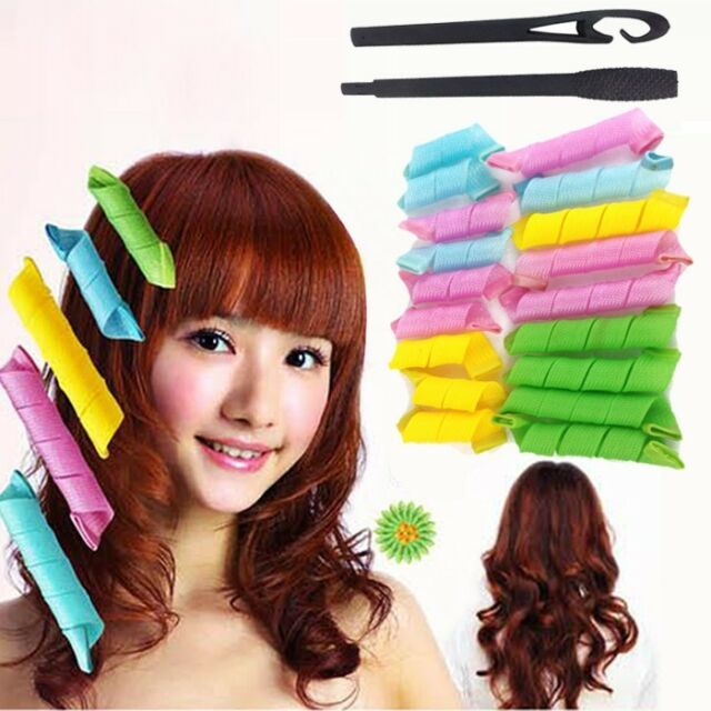 18PCS Magic Leverag Circle Hair Styling Roller Curler New Hot