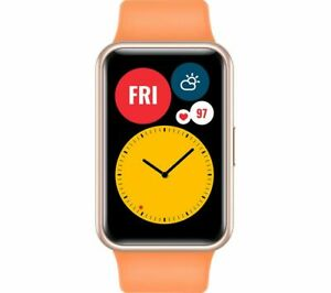 HUAWEI Smart Watch Fit Water Resistant GPS Silicone Cantaloupe Orange - Currys