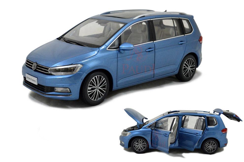 1 18 1 18 escala VW Volkswagen Touran MPV 2016 blu L Nuevo Modelo Diecast Coche Paudi