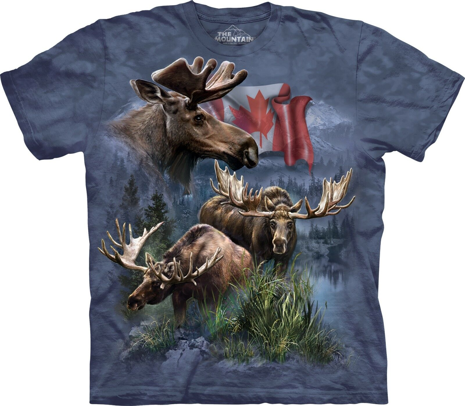 The Mountain Adult Canadian Moose Collage Animal T Shirt