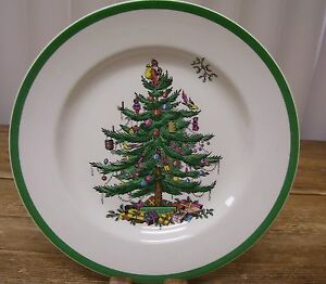 Image is loading Spode-Christmas-Tree-Dinner-Plate-38-England-S3324 : spode christmas tree dinner plates - Pezcame.Com
