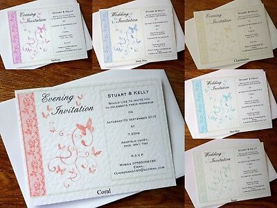 """Audace Personalised Wedding/evening Invito Biglietto & Busta * 7 Colori *-g Invitation Card & Envelope *7 Colours*"""" Data-mtsrclang=""""it-it"""" Href=""""#"""" Onclick=""""return False;""""> Modellazione Duratura"""