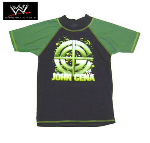 GENUINE AUS-WWE RAW Wrestling John Cena Boys Summer Rashie//Rash Vest UV50+-SALE