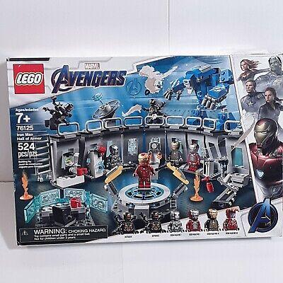 LEGO Marvel Avengers Iron Man Hall of Armor 76125 Building ...