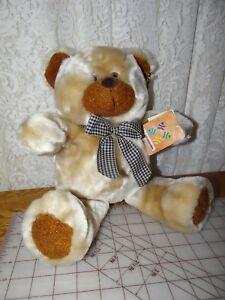 Cute-Dan-Dee-Collector-039-s-Choice-Plush-Teddy-Bear-13-034-High-new-With-Tags-TAN