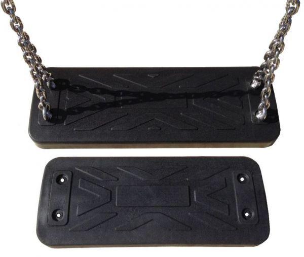 Klingl Erwachsenenschaukelsitz XL, schwarz mit Kette 250 vz DIN 1176 öffentlich