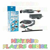 Nintendo Wii Complete Hookup Connection Kit Power Cord Av Cable Sensor Bar +