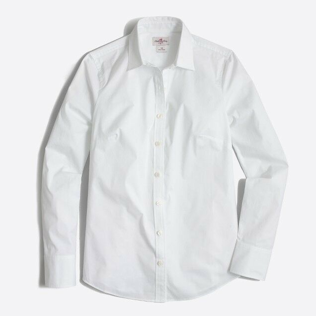 JCrew Haberdashery Stretch classic button-down shirt Weiß Größe XL