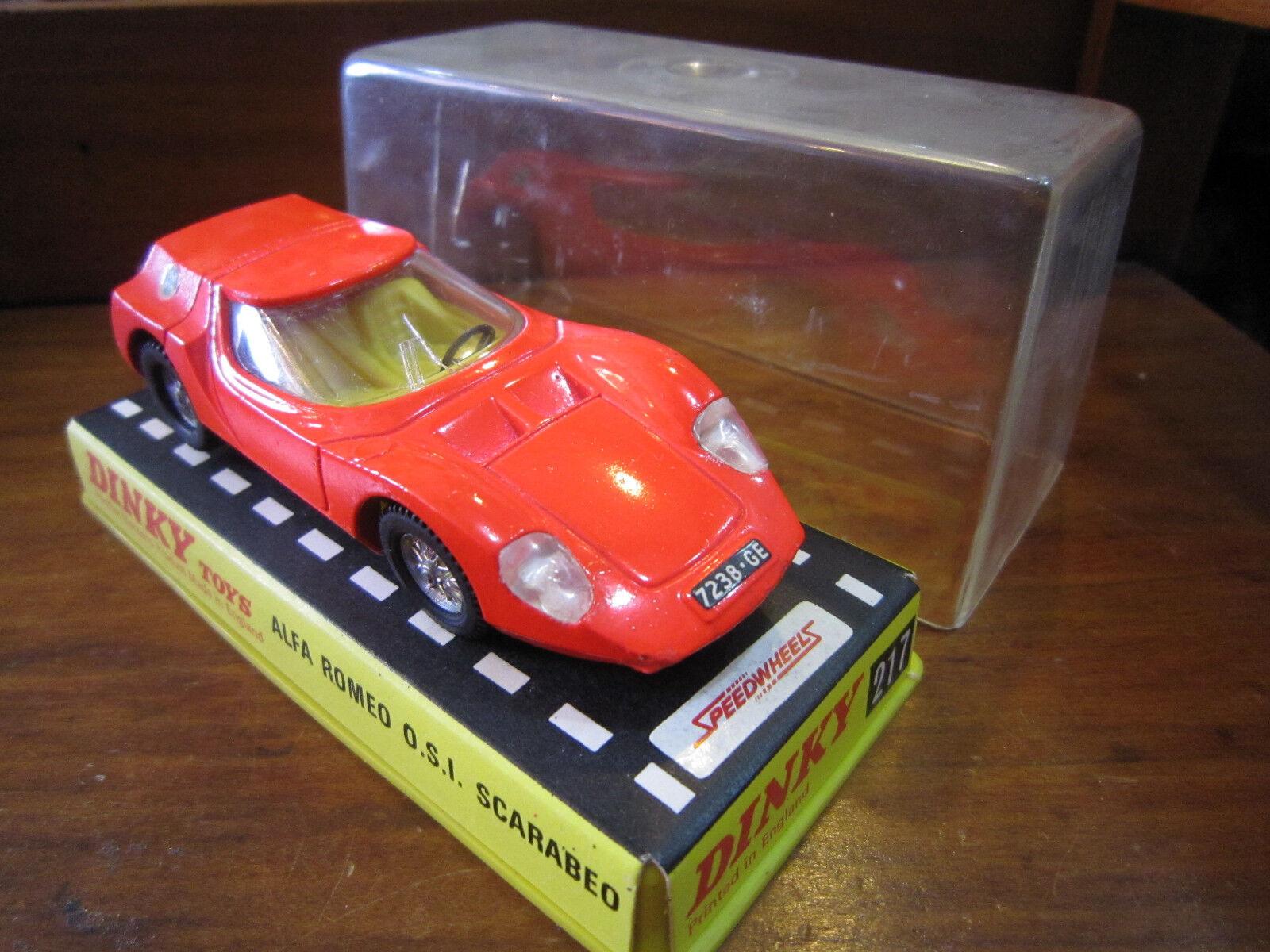 DINKY giocattoli 217 - ALFA ROMEO O.S.I. SautoABEO -1 43- DIECAST -WITH scatola- VINTAGE