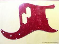 Precision Bass guitar pickguard scratch plate RED Pearloid Pearl PICK guard-d PB