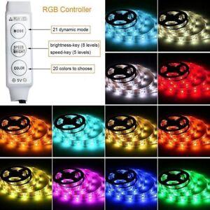 1m-2m-LED-Leiste-Strip-e-Streifen-Licht-Band-mit-Batterie-Box-batteriebetrieben