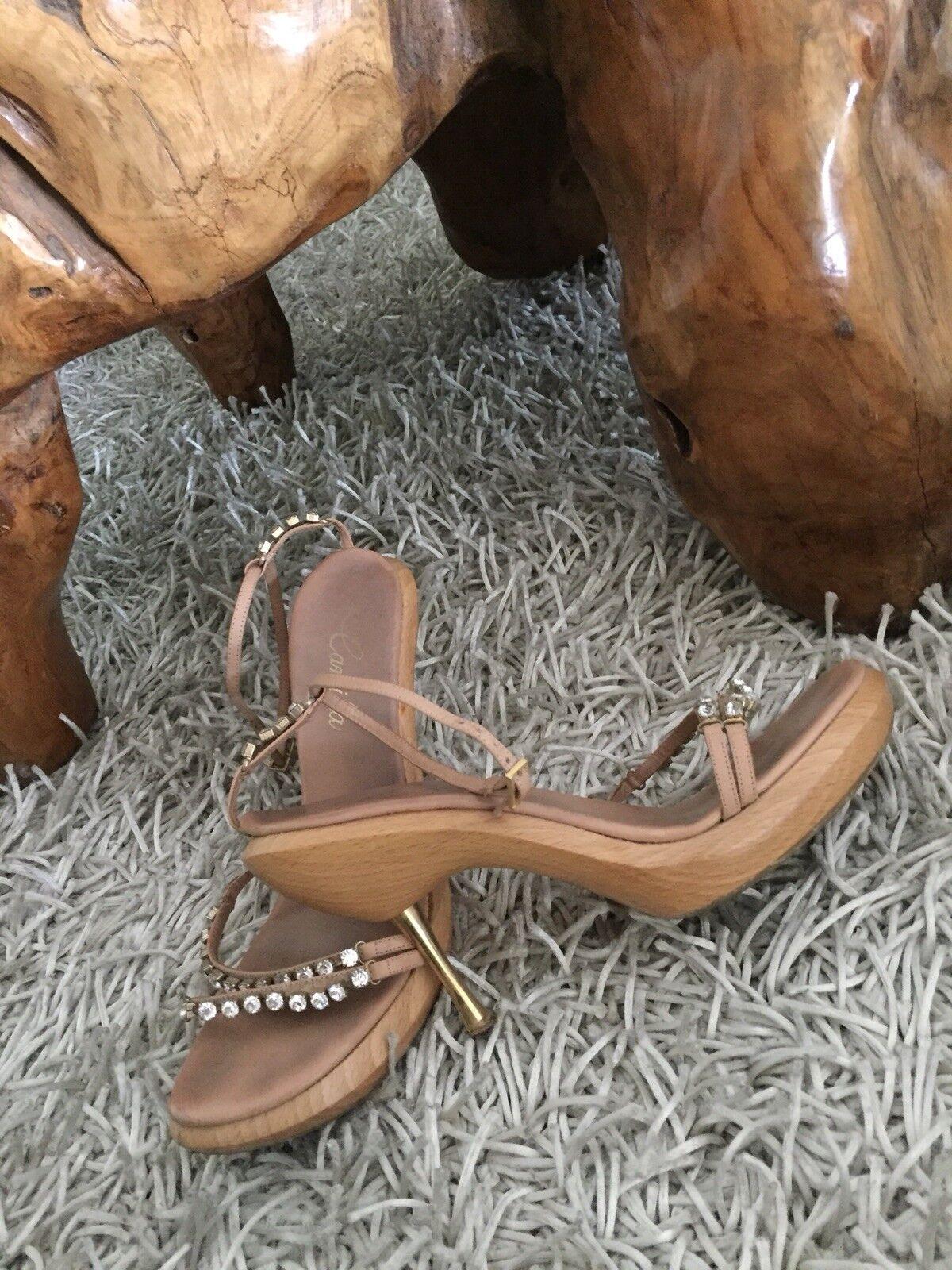 Luxus Luxus Luxus Blogger Strass Holz Sandale von Camilla Gr.40 d15853
