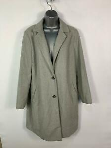 WOMENS-NEW-LOOK-GREY-SMART-CASUAL-MID-LENGTH-WINTER-OVERCOAT-JACKET-SIZE-UK-12