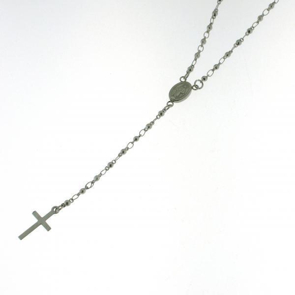 Collana pinkrio in Acciaio Massiccio Anallergico Medaglia Miracolosa Croce Santi