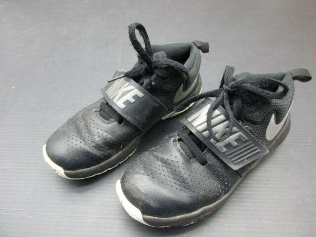 Boys Nike Black Leather Trainers Main