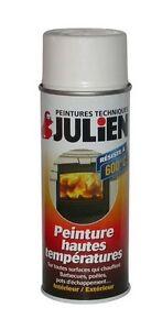 bombe peinture blanc haute temperature 600 c julien barbecue poele echappement ebay. Black Bedroom Furniture Sets. Home Design Ideas