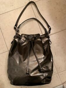 Details About Coach Madison Patent Leather Marielle Drawstring Bag