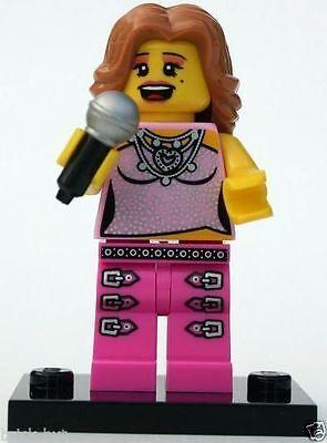 LEGO SERIES 2 - POP STAR FIGURE + MICROPHONE + FREE GIFT ,FAST, BESTPRICE - NEW