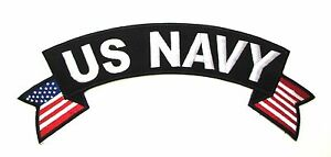 US Navy Patch top Rocker US flag on sides for Vest Jacket 10 inch