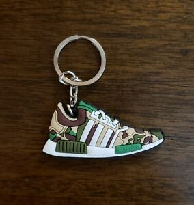 Adidas-NMD-R1-Bape-Olive-Camo-Shoe-Sneaker-Keychain
