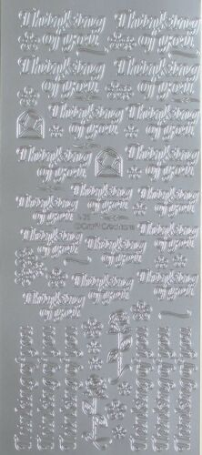 Thinking of You PEEL OFF STICKERS Sympathy Get Well Roses Cardmaking
