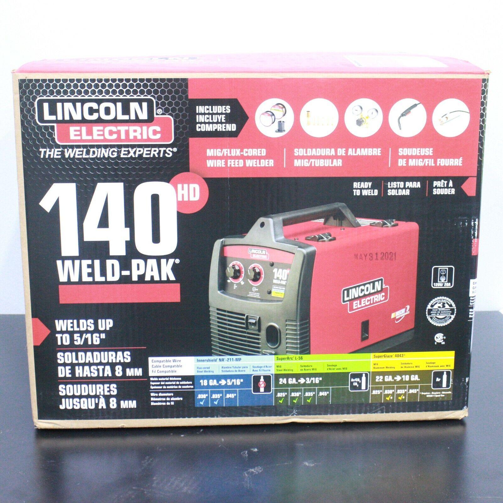 K2514-1 thehappyhocker Lincoln Electric K2514-1 120v Weld Pak 140 HD Wire-Feed Welder NEW!