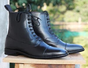 Handmade Men's Ankle High Cap Toe