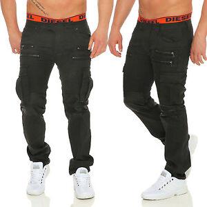 Tomor-Herren-Cargohose-Jeans-Lederhose-optik-3109