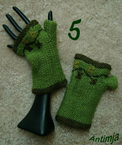 Handstulpen Wolle Pulswärmer Strick Dekorative Stulpen Blumen Winter Armstulpen