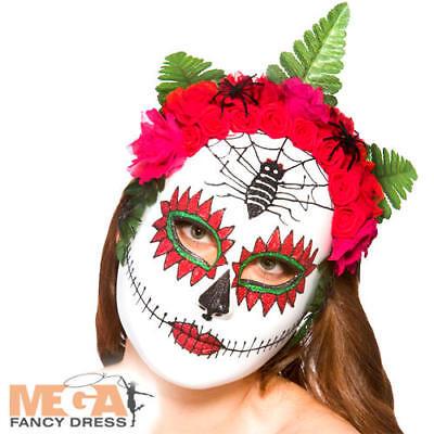 Giorno Dei Morti Maschera Con Fiori Costume Halloween Donna Scheletro Costume Ac-mostra Il Titolo Originale Buono Per Succhietto Antipiretico E Per La Gola