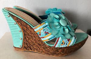 Wedge Sandals~Women's~Sz 9~Nicole Lee