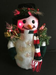 image is loading 17 034 snowman fiber optic musical multiple tunes