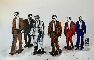 ORIGINAL Reservoir Dogs Tarantino Movie Abstract Palette Knife Pop Art Painting