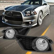 For 2011-2015 Dodge Charger Front Bumper Projector Fog Light Lamp Kit Left+Right