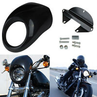 Front Headlight Cowl Mask Fairing Cover For Harley Sportster Dyna Glide Fx Xl