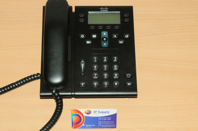 Cisco CP-6945-C-K9 Unified VoIP IP Phone Charcoal Standard Handset 6MthWty TaxIn