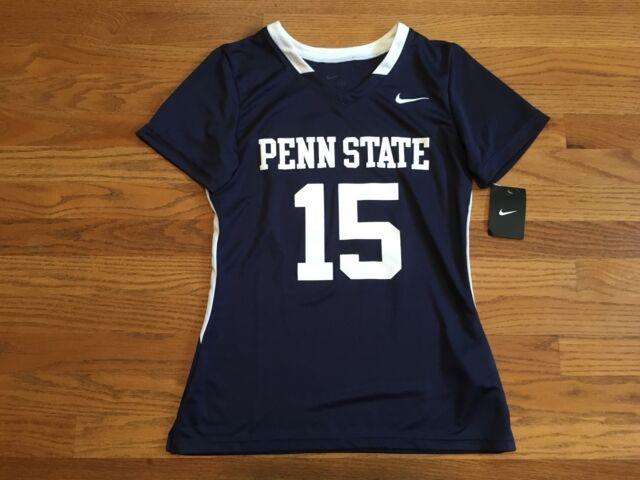 Nike Women's Medium Penn State Lacrosse Soccer SS Jersey Blue White 707104