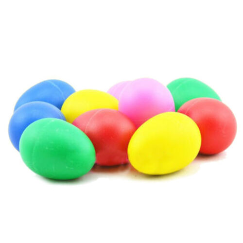 1//5X Plastic Percussion Musical Egg Maracas Shakers Kids Funny Toys 5ColorsD^F